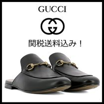 GUCCI Princetown Plain Leather Loafers & Slip-ons