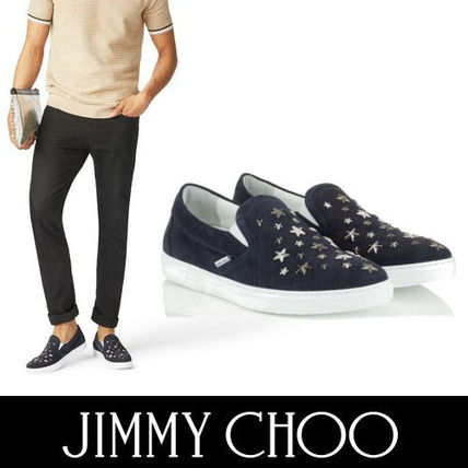 55eeb9d89c8b Jimmy Choo Loafers   Slip-ons Plain Toe Suede Studded Street Style Plain ...