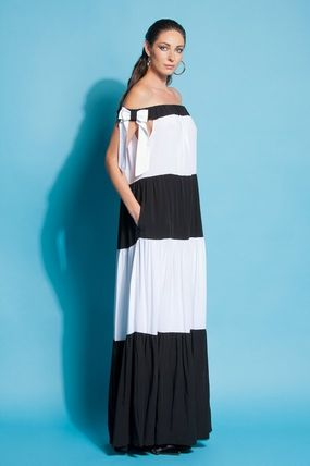 Stripes Maxi Cotton Long Party Style Oversized Dresses