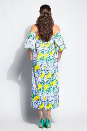 Flower Patterns Tropical Patterns Maxi Cotton Long