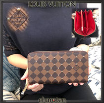 Louis Vuitton ZIPPY WALLET Other Check Patterns Cambus Blended Fabrics Studded Bi-color