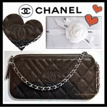 CHANEL Lambskin 3WAY Plain Elegant Style Shoulder Bags