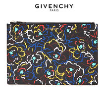 GIVENCHY Flower Patterns Leather Clutches