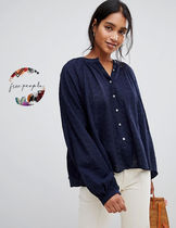 Free People Casual Style Long Sleeves Shirts & Blouses