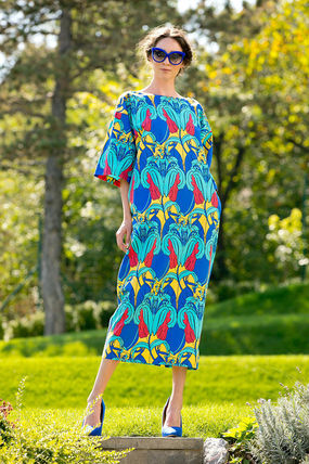Flower Patterns Tropical Patterns Tight Cropped Long
