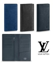 Louis Vuitton Leather Folding Wallet Long Wallets
