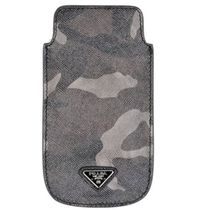 PRADA Camouflage Leather Smart Phone Cases