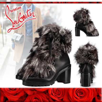 cd0844a319d ... Christian Louboutin More Boots Fur Chunky Heels Boots Boots ...