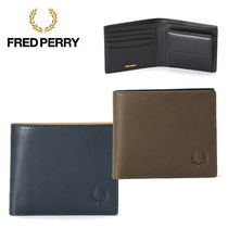 FRED PERRY Plain Leather Folding Wallets