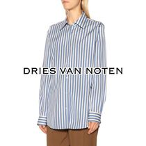 Dries Van Noten Stripes Casual Style Long Sleeves Cotton Oversized