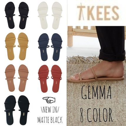 d9f387b36f36 ... TKEES More Sandals Open Toe Casual Style Plain Leather Sandals ...