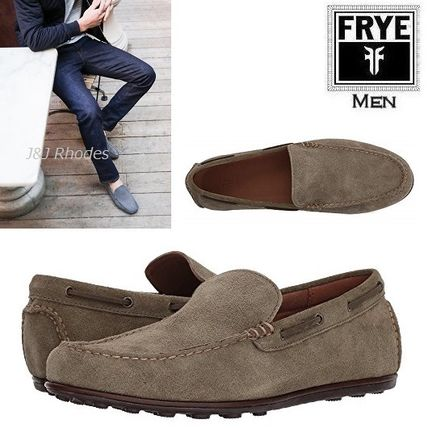 Driving Shoes Suede Plain Loafers & Slip-ons