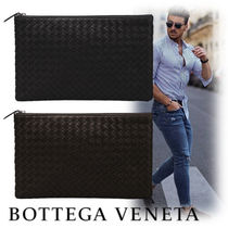 BOTTEGA VENETA Unisex Street Style Plain Leather Clutches