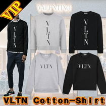 VALENTINO Unisex Long Sleeves Plain Cotton Sweatshirts