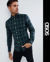 ASOS Other Check Patterns Street Style Long Sleeves Shirts
