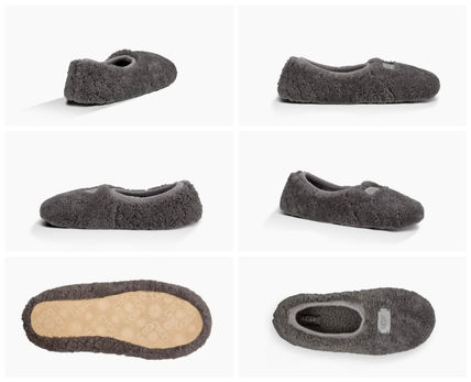 UGG Australia Slip-On Round Toe Casual Style Sheepskin Plain Slippers 2