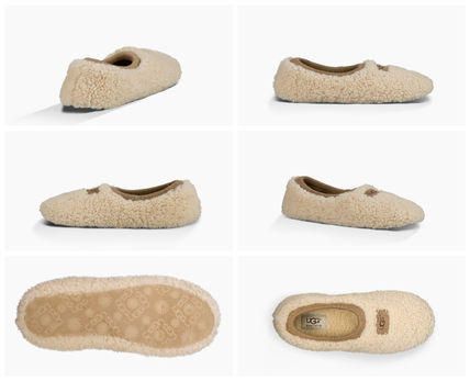 UGG Australia Slip-On Round Toe Casual Style Sheepskin Plain Slippers 3