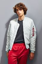 ALPHA INDUSTRIES Short Street Style Collaboration Plain MA-1 Bomber Jackets