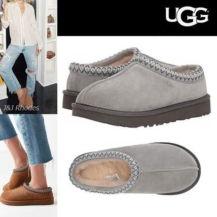 ffa9b41de0d UGG Australia TASMAN 2018-19AW Round Toe Casual Style Suede Plain Slippers  Slip-On Shoes