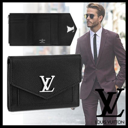 Louis Vuitton Folding Wallets Plain Leather Folding Wallet Folding Wallets