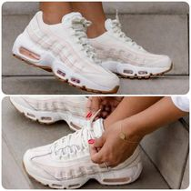 Nike AIR MAX 95 Stripes Plain Toe Lace-up Casual Style Unisex Street Style