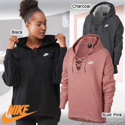 Long Plain 19aw Up Lace 2018 Nike Casual Medium Sleeves Sweat Style P0qZ7z
