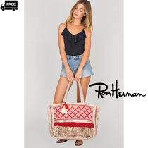 Ron Herman A4 Handmade Fringes Elegant Style Totes