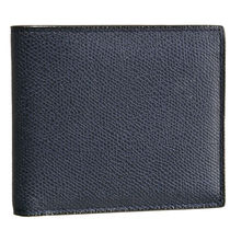 Valextra Unisex Plain Leather Folding Wallets