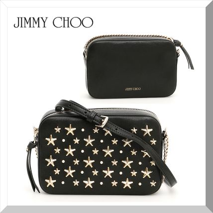 Star Studded Chain Leather Shoulder Bags
