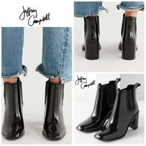 Jeffrey Campbell Square Toe Rubber Sole Casual Style Plain PVC Clothing