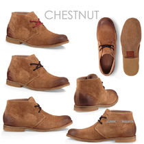 UGG Australia Plain Toe Plain Leather Chukkas Boots