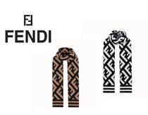 FENDI Casual Style Street Style Heavy Scarves & Shawls