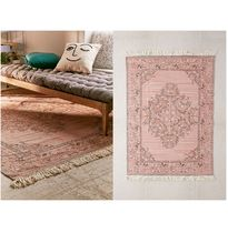 Urban Outfitters Flower Patterns Fringes Ethnic Carpets & Rugs