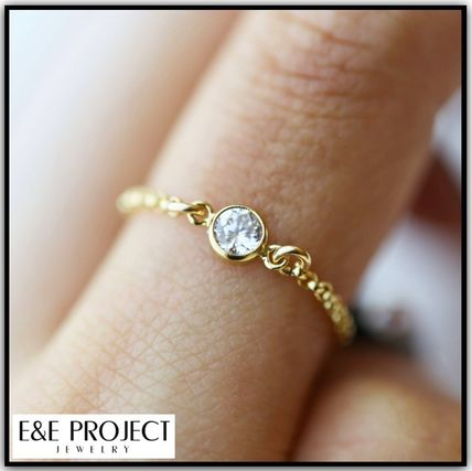 E and E PROJECT Silver 14K Gold Rings