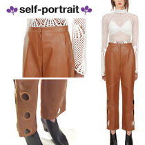 SELF PORTRAIT Faux Fur Plain Long Short Length Elegant Style