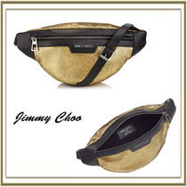 Jimmy Choo Unisex Lambskin Street Style Plain Hip Packs
