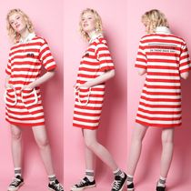 FIFI LAPIN Stripes Casual Style Street Style Collaboration Cotton