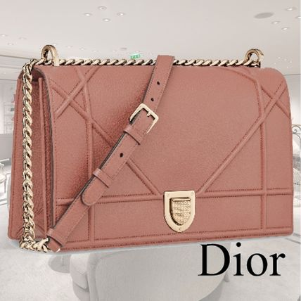 364f2958a3ac ... Christian Dior Handbags Calfskin Blended Fabrics 2WAY Chain Elegant  Style Handbags ...