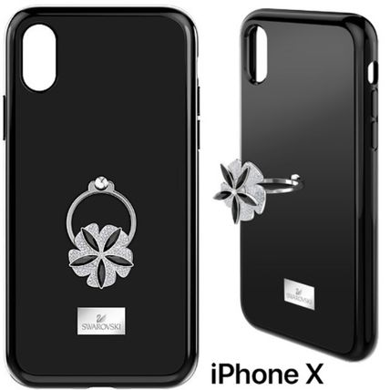 Flower Patterns Plain With Jewels Smart Phone Cases