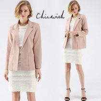 Chicwish Casual Style Plain Jackets