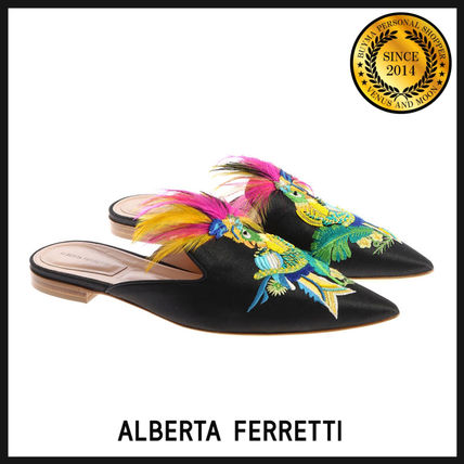 Bi-color Leather Party Style Sandals