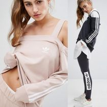 adidas Stripes Monoglam Casual Style Street Style Cotton Medium