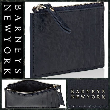 Unisex Street Style Plain Leather Card Holders