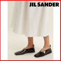 Jil Sander Casual Style Leather Ballet Shoes