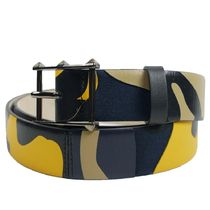 VALENTINO Camouflage Street Style Leather Belts