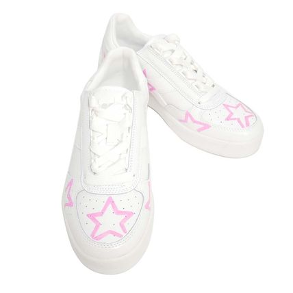 Star Street Style Leather Sneakers