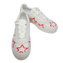 THE EDITOR Star Street Style Leather Sneakers