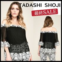 TADASHI SHOJI Flower Patterns Elegant Style Bandeau & Off the Shoulder