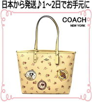 Coach Flower Patterns Casual Style Collaboration Bag in Bag A4