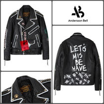 ANDERSSON BELL Unisex Leather Biker Jackets